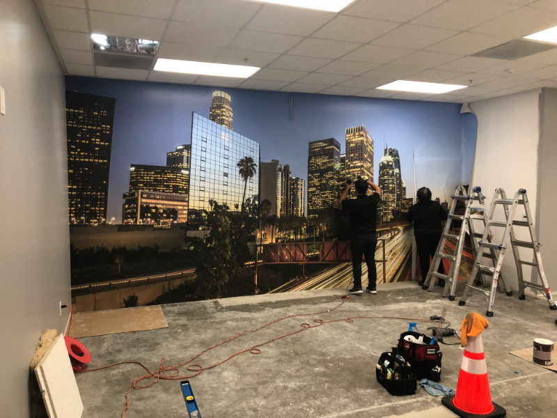 Wall Mural Installations in LA County and Orange County