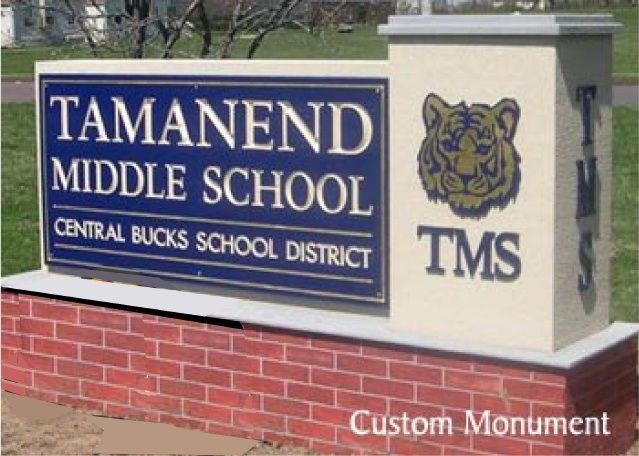 M6738 - Custom Middle School Monument Sign