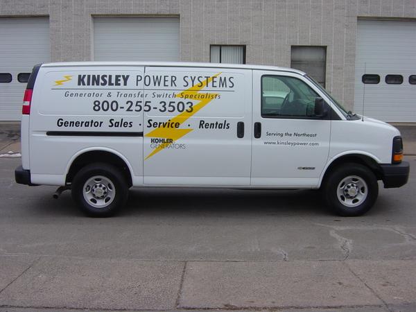 Fleet Graphics, Chevrolet Van, Lettering & Logo Graphics