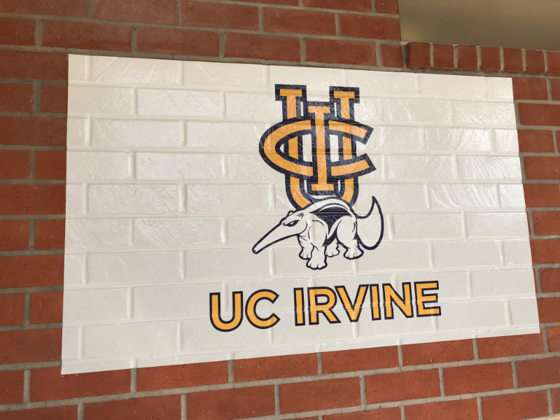 Exterior wall graphics on brick Whittier CA