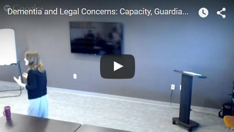 Dementia and Legal Concerns - Video