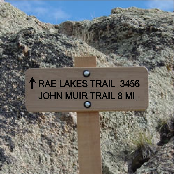 G16106 - Cedar Trail Sign for Lake Trail and John Muir Trail
