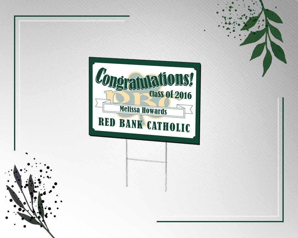 Rigid Lawn Sign - Congradulations