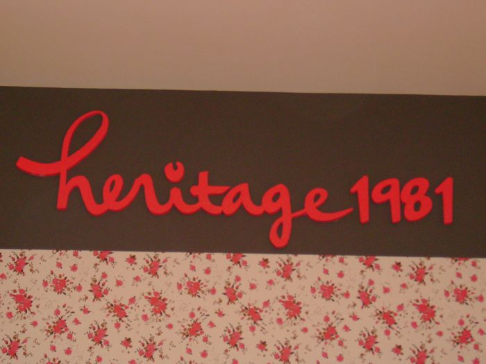 Heritage 1981 Storefront Sign