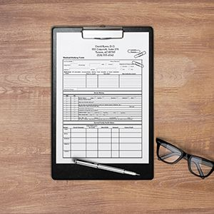 Request an estimate for printing medical forms.