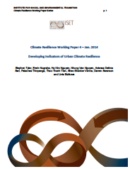 Climate Resilience Working Paper #2- Developing Indicators of Urban Climate Resilience
