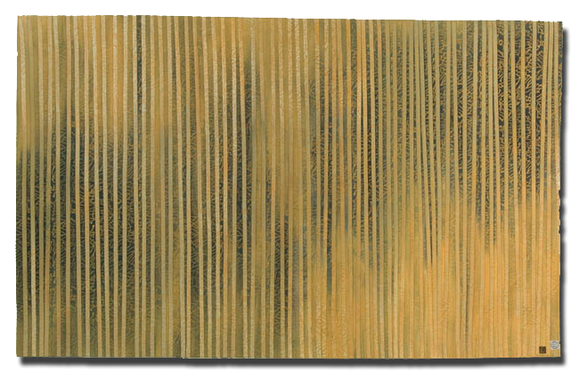 'Through the Trees:  Under the Storm,' made by Chris Wolf Edmonds, made in Berryton, Kansas, United States, dated 2001, 66.5 x 41.5 in, IQSCM 2005.005.0002