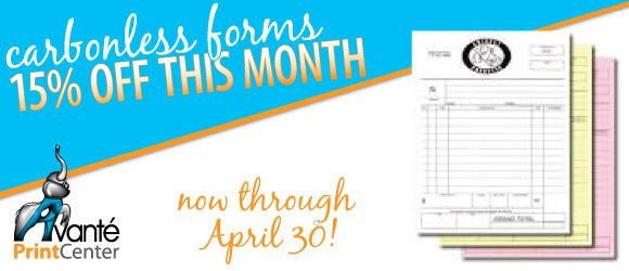 Carbonless Forms on Sale This Month
