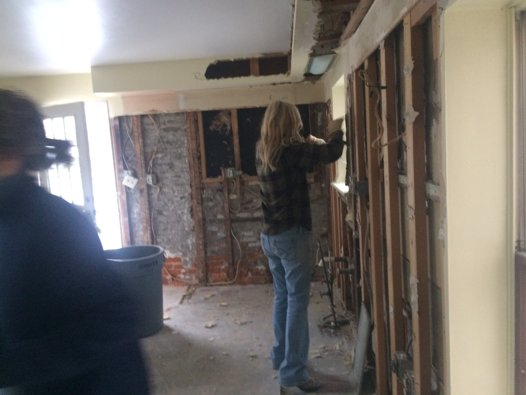 Ripping out the drywall