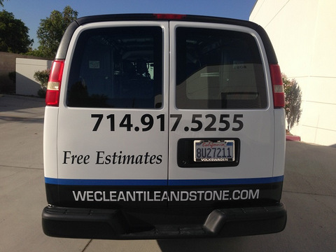 Contractor vehicle vinyl lettering Orange County