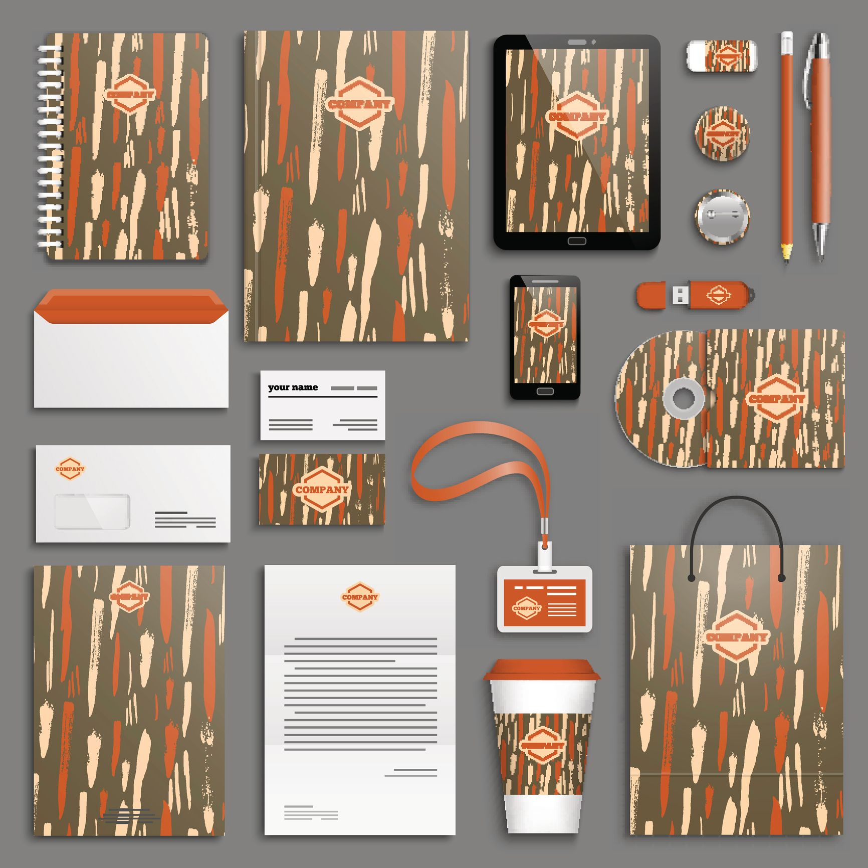 Corporate identity packages produced in Owings Mills, Maryland.