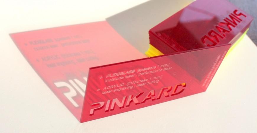 Laser Cut Acrylic Business Cards