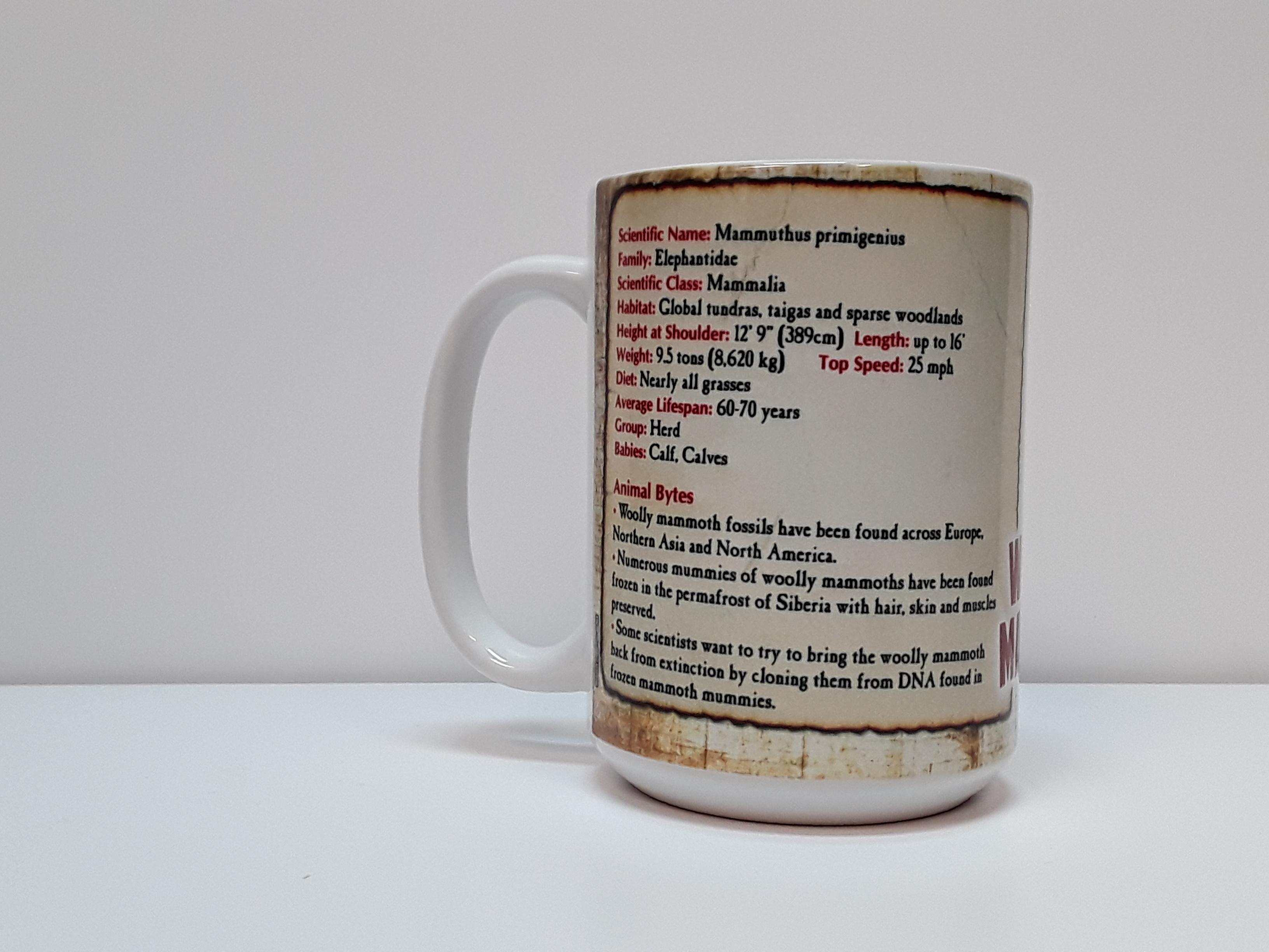 Woolly Mammoth Facts Mug