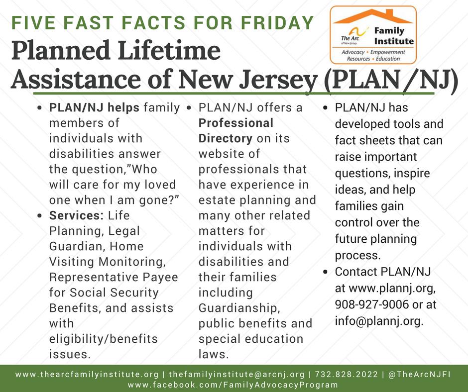 Planned Lifetime  Assistance of New Jersey (PLAN/NJ)