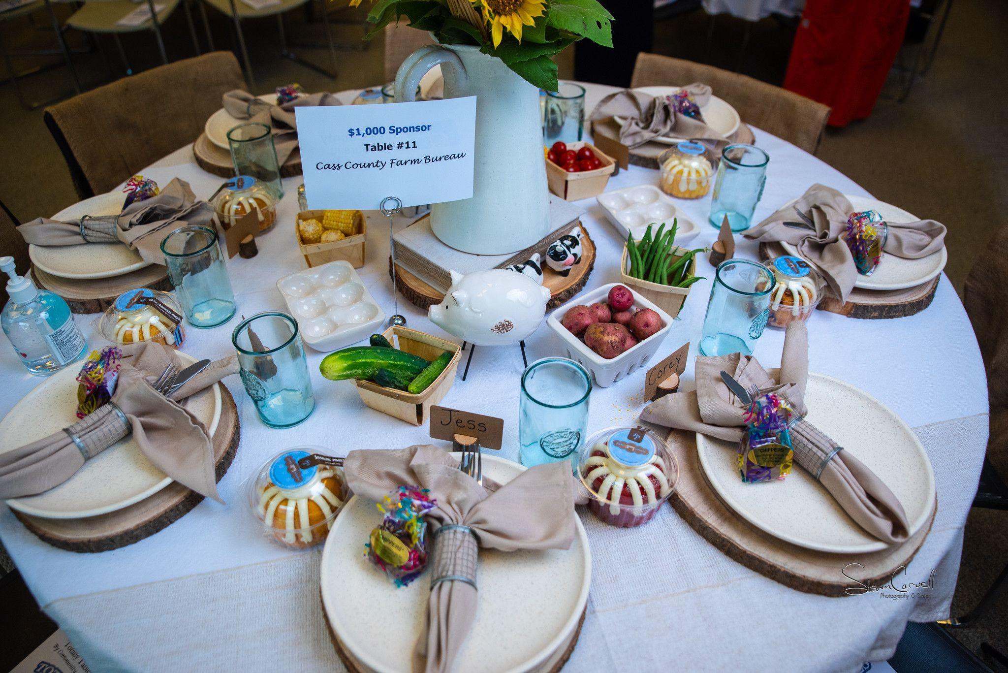 $1,000 sponsor - Cass County Farm Bureau - Farm to Table