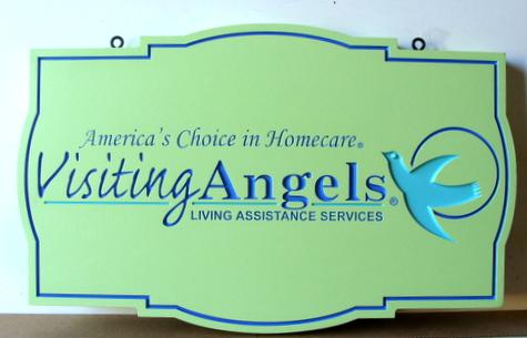 B11235 - Engraved HDU Living Assistance Hanging Sign
