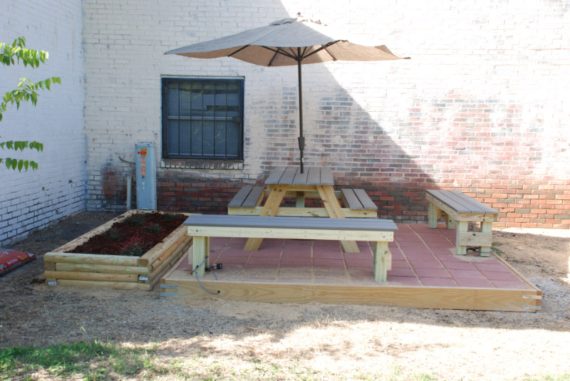 Thanks to Boy Scout Troop 76 for providing a beautiful new patio for Nashamah Housing Complex