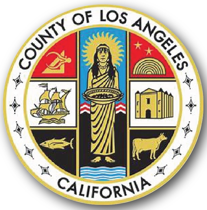 CP-1300 - Carved Plaque of the Seal of Los Angeles County,California,  Artist Painted