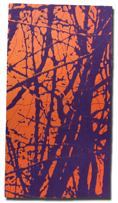 'Autumn 4,' made by Barbara Watler, made in Hollywood, California, United States, dated 2007, 107 x 58.5 in, IQSCM 2008.032.0004