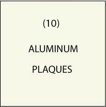 M7551 - (10)  Aluminum Cladding  Overlay Plaques