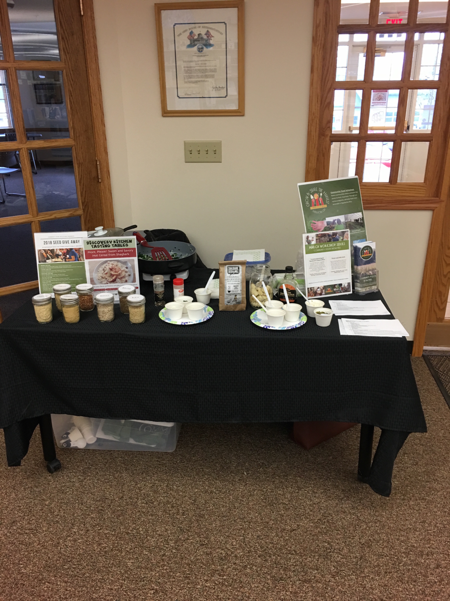 Discovery Kitchen's Steam Sizzle Simmer: Hot Cereal at the Library