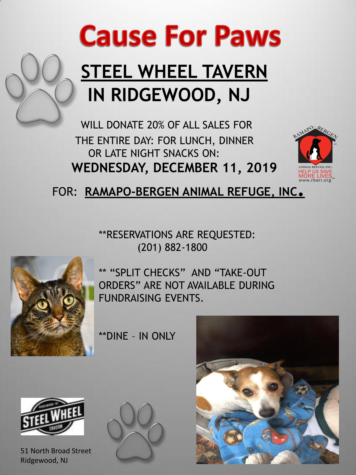 Cause for Paws at Steelwheel Tavern!