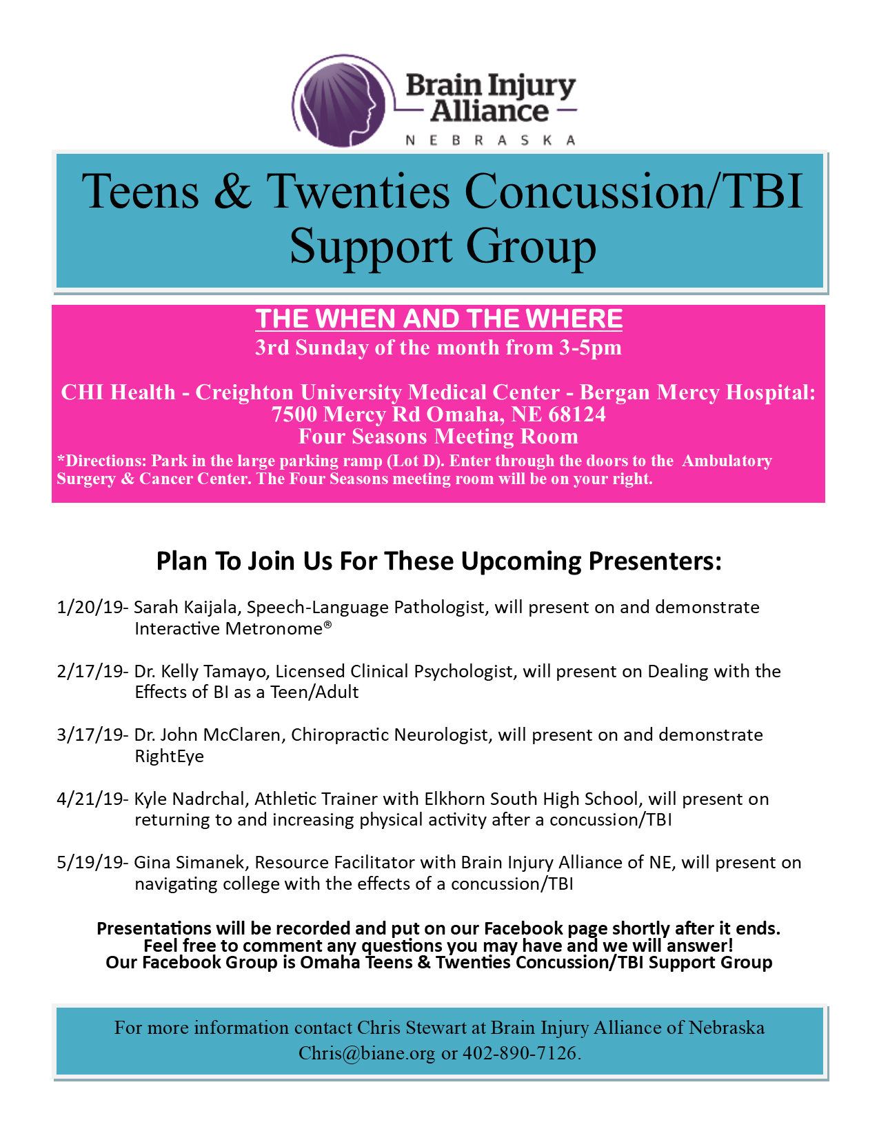 New Support Group: Teens and Twenties