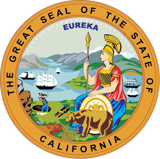 W32070A - Great Seal of California Wooden Plaque (Version 2)