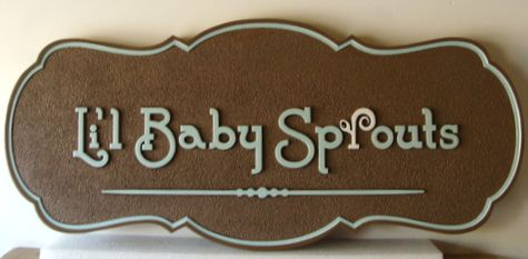 N23018 - Sandblasted HDU Wall Plaque for Child's Room