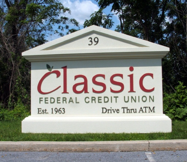 C12207 - Federal Credit Union Monument Sign