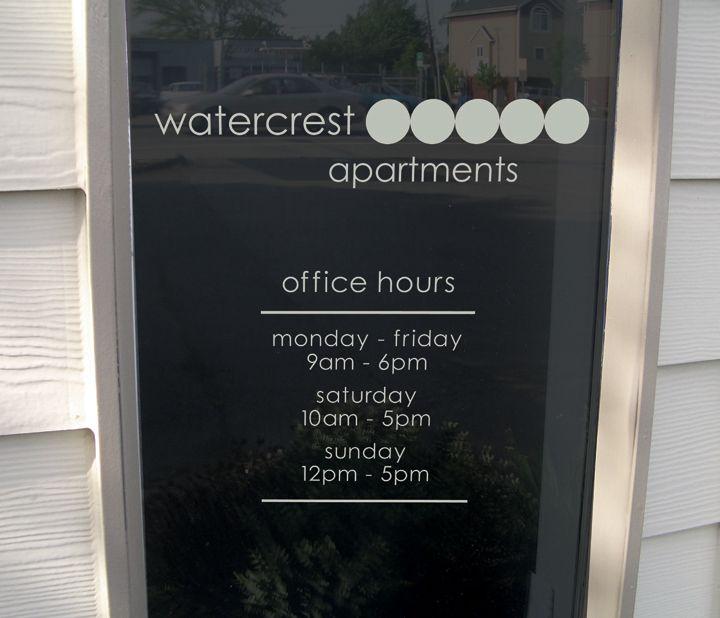 Watercrest Window Hours