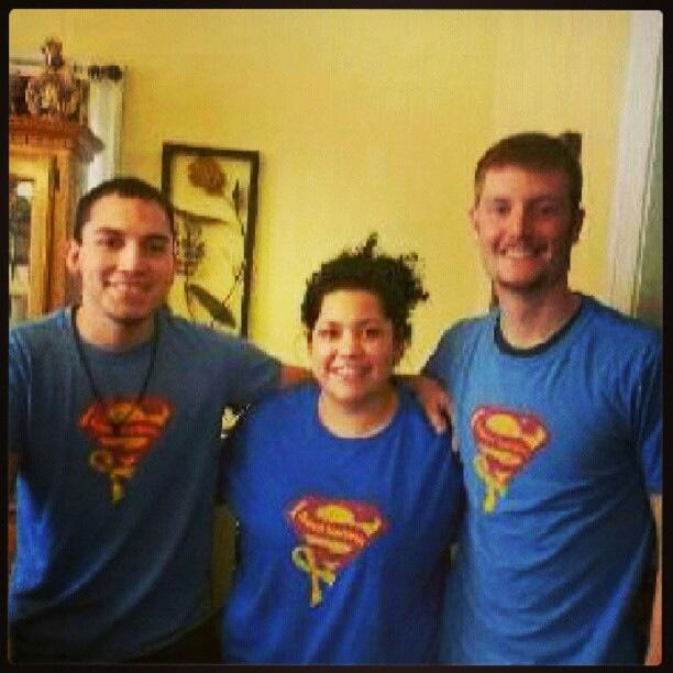 Omar, Katie, and Levi sending Sammy superhero love!!!