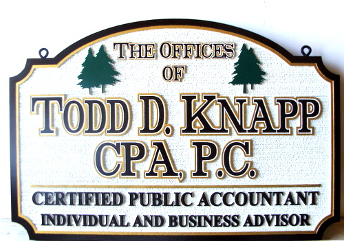 C12009 - Sandblasted HDU CPA and Financial Advisor Sign