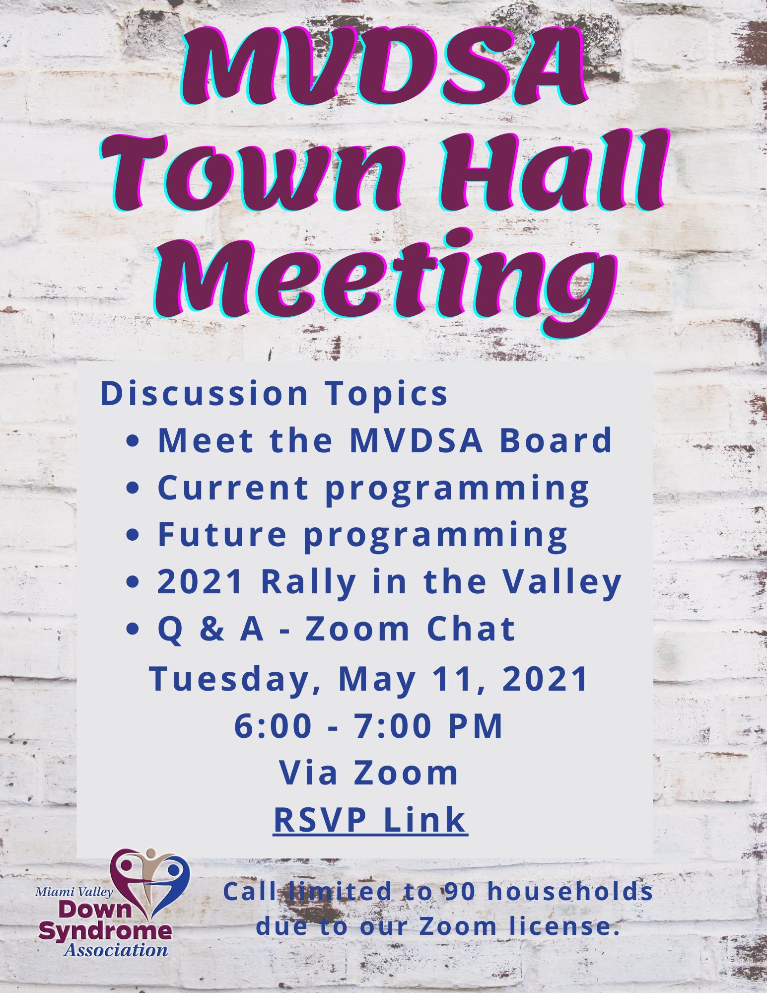 MVDSA Town Hall Meeting