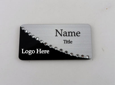 Two Tone Swing Bling Name Badge