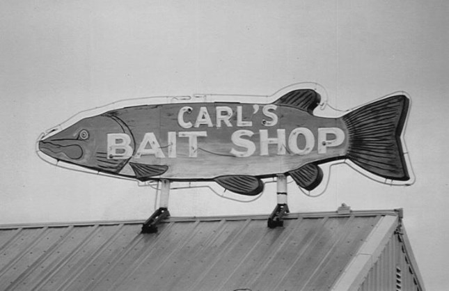 Donate | Save Carl's Bait Shop Neon Sign
