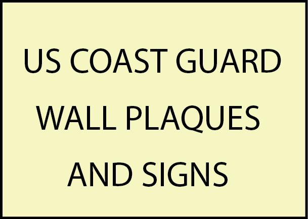 V31901 - US Coast Guard Wall Plaques and Signs