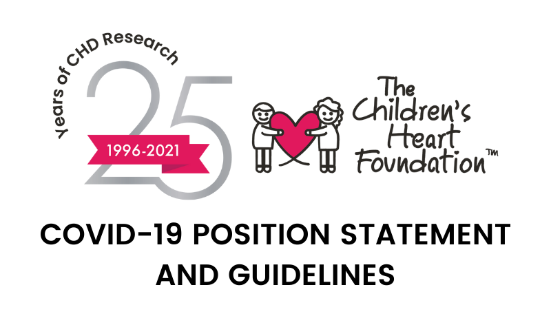 The Children's Heart Foundation COVID-19 Position Statement