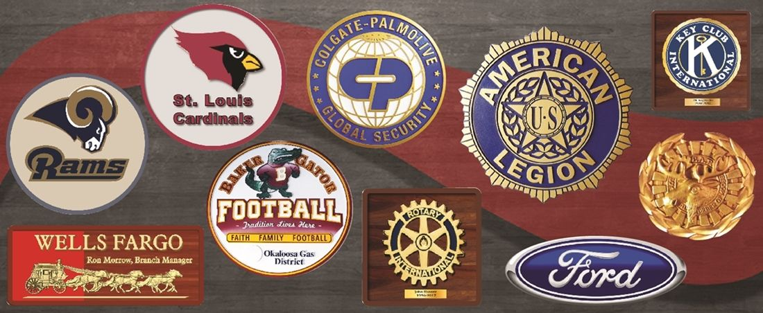 Carved Wall Plaques for Clubs, Companies and Sport Teams