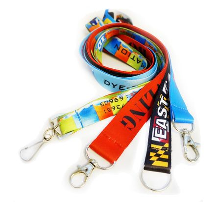 Custom printed lanyards produced in Owings Mills, Maryland.