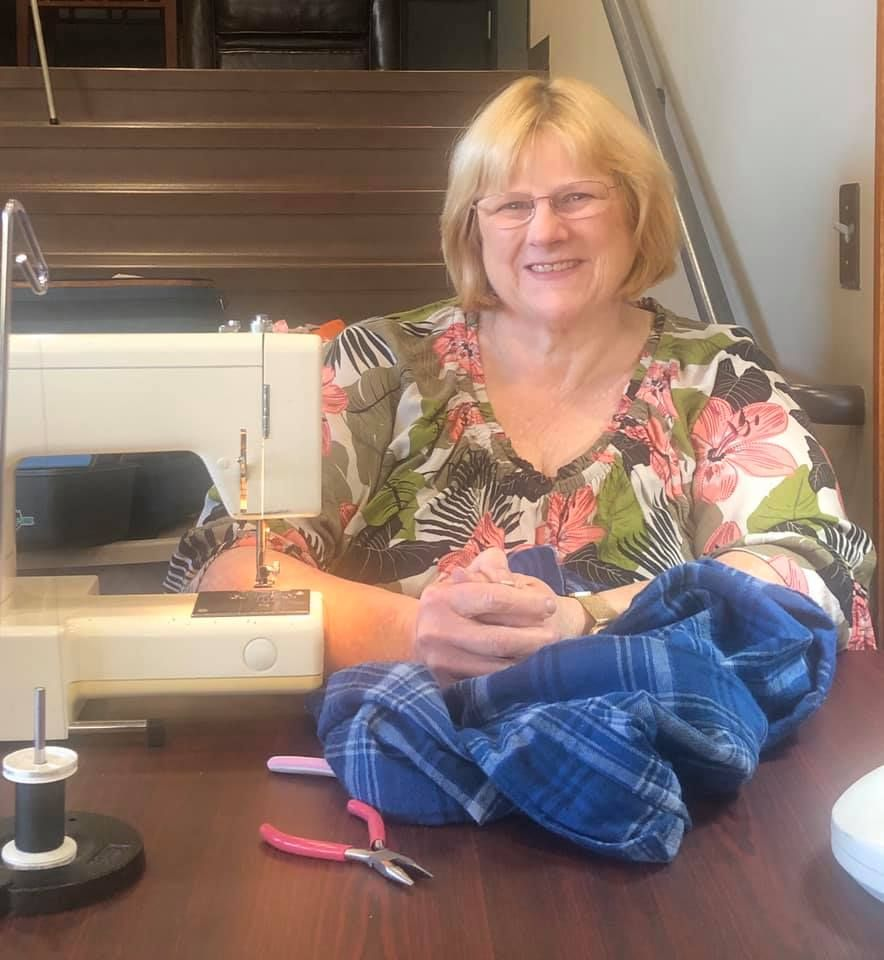 Volunteer celebrates 4 Years of Sewing and Mending