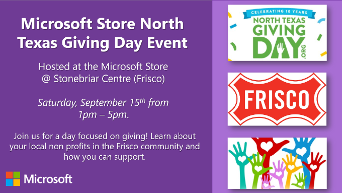 Microsoft North Texas Giving Day Event