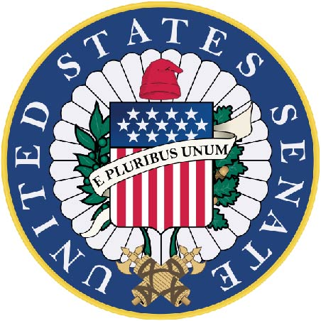 U30102 - Carved 3-D Wooden Wall Plaque of Official Seal for US Senate