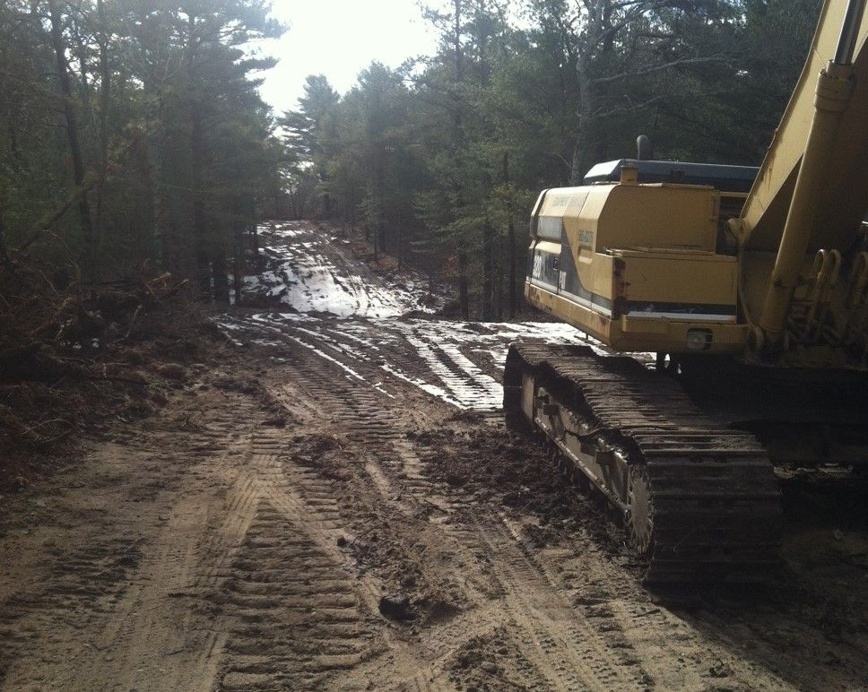 A driveway in the making