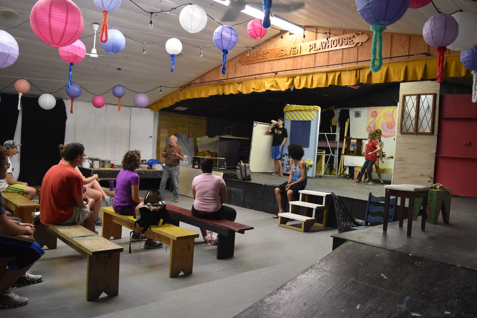 Campers enjoy theater.