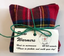 Flannel 'Paw' Warmers