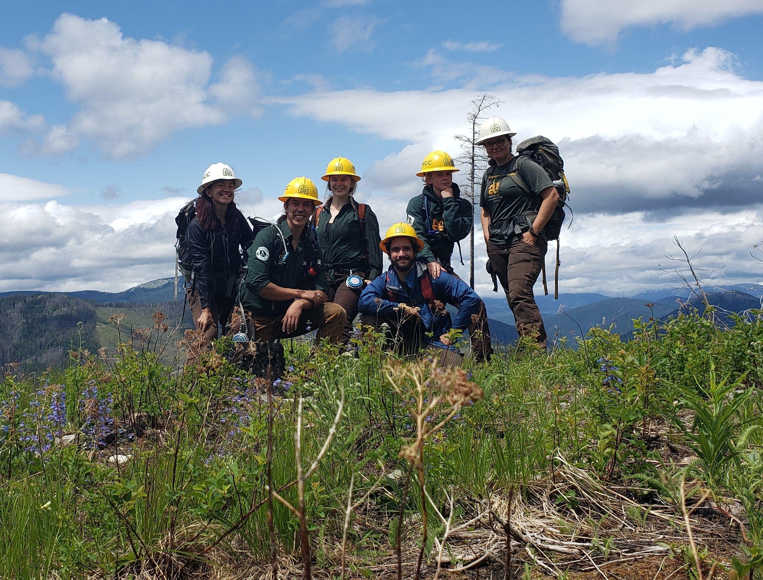 Kootenai Forestry Crew Surveys Past Burn Areas