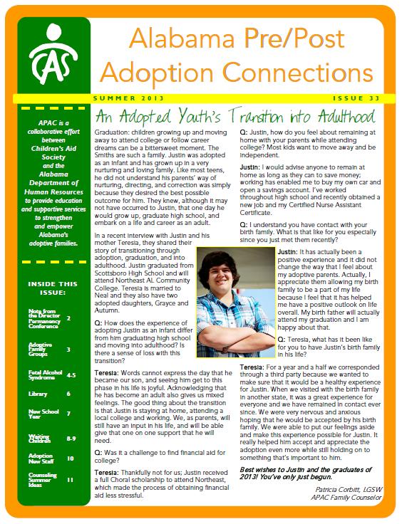 APAC Newsletter Summer 2013