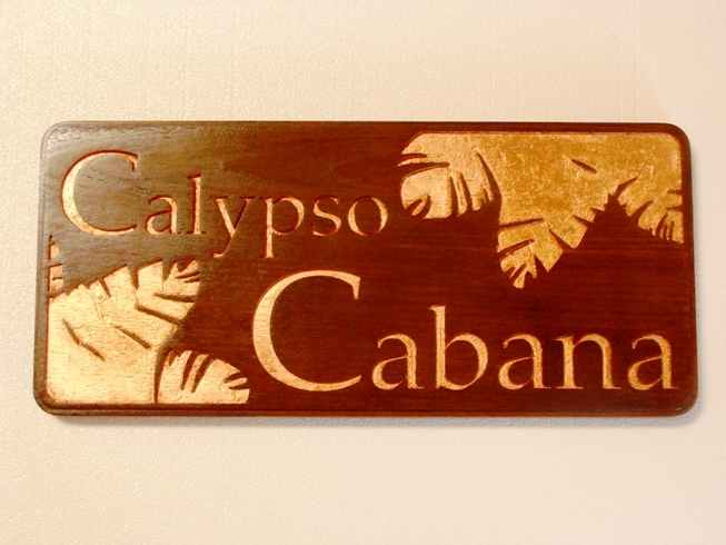 M3007 - Gold-leaved Teak Engraved Plaque for Cruise Ship (Gallery 20).
