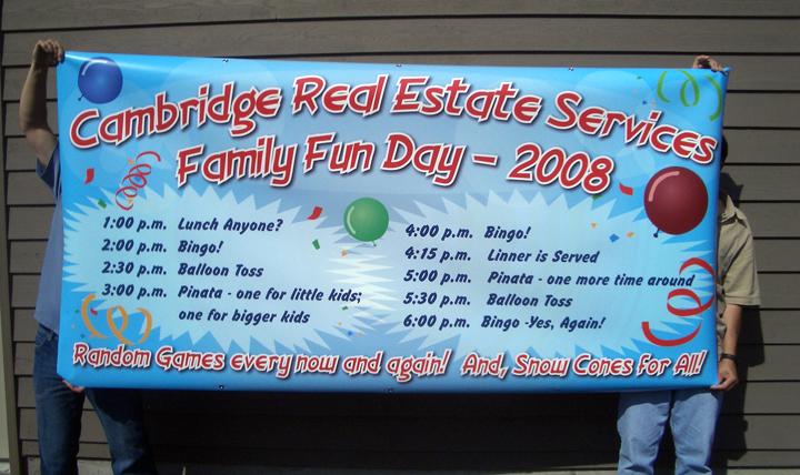 Cambridge Family Fun Day Banner
